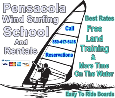 Navarre - Pensacola - Gulf Breeze - Perdido - Gulf Shores - WindSurf  - lessons - training - rentals